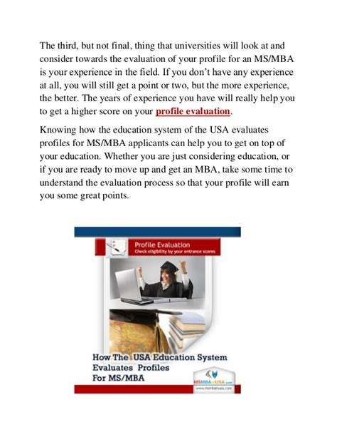Mba Profile Evaluation by Profile Evaluation For Ms In Us Mba In Us Mba In Usa