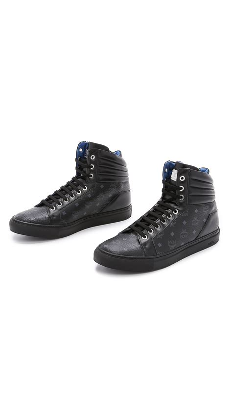 mcm sneakers for mcm high top sneakers in black for lyst