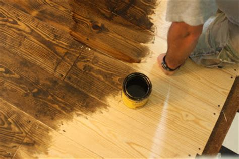 Distressing My Oak Floors When Sanding Them - make your own flooring with 1x6 pine