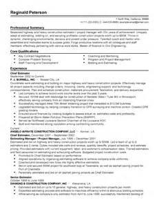 Chief Estimator Sle Resume by Professional Chief Estimator Templates To Showcase Your Talent Myperfectresume