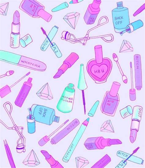 wallpaper cute makeup backgrouds pinterest pastel kawaii makeup and we