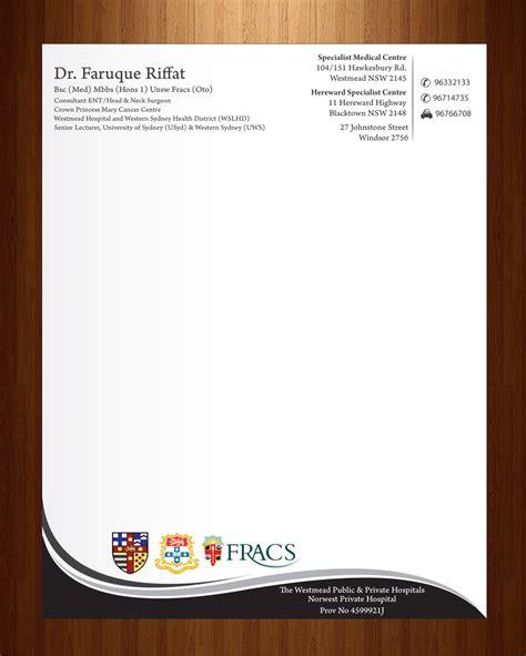 letterhead design for faruque riffat by harmi 199 design