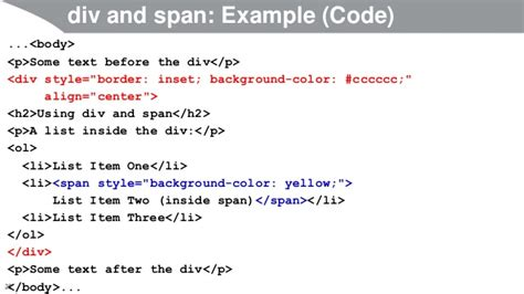 span and div javascript and jquery programming tutorial html basics part 1
