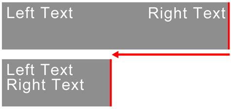 div align right html text aligned to the left and right of a div to move
