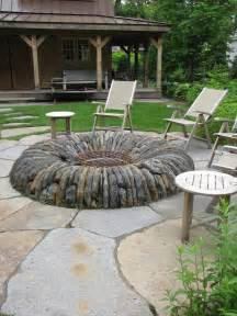 Brick Home Designs backyard fire pit ideas with simple design