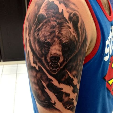 grizzly bear tattoos for men tattoos designs ideas and meaning tattoos for you