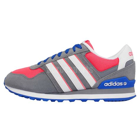 adidas neo label 10k w grey pink blue womens running shoes sneakers f98274 ebay
