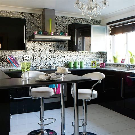 Black Gloss Kitchen Ideas Modern Kitchen Pictures House To Home