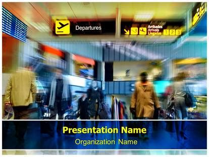 Airport Powerpoint Template Background Subscriptiontemplates Com Airport Ppt Template