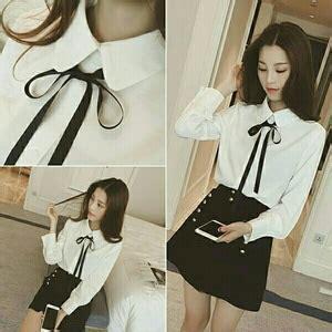 Atasan Kemeja Hem Cewek Lengan Panjang Kotak Moca Blouse kemeja putih wanita lengan panjang model terbaru
