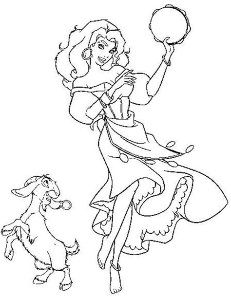 disney esmeralda coloring page the hunchback of notre dame disney esmeralda coloring
