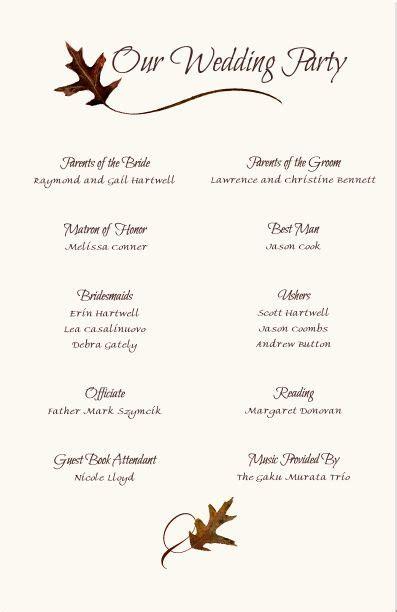 wedding program inclusions the 25 best wedding program sles ideas on