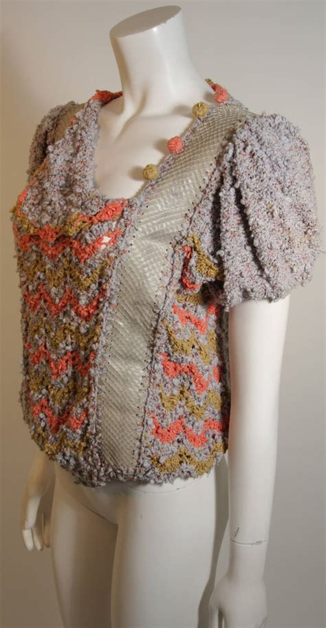 Handmade Knit Sweaters - norma handmade knit sweater with snakeskin inserts for