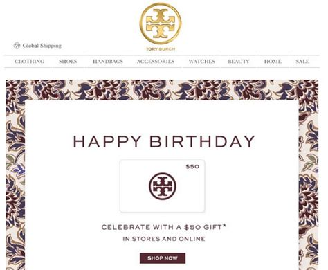 effective birthday emails that light up our inboxes verticalresponse blog - Tory Burch Birthday Gift Card