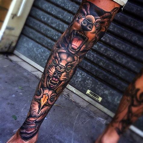 lower leg sleeve tattoo designs 80 shin tattoos for masculine lower leg design ideas