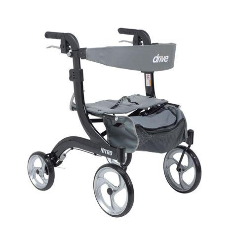 drive rollator drive nitro euro style walker rollator hemi height in