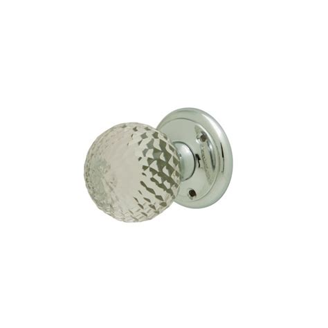 Faceted Glass Mortice Door Knob Furniture Chrome Finish New Glass Door Knobs