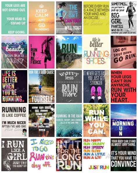 printable running quotes running quotes for life planners print at home life