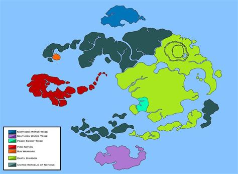 world  avatar political map legend  korra  loudo