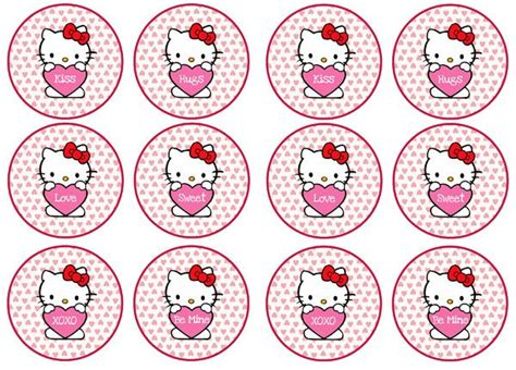 hello cupcake topper template free hello valentines day cupcake toppers from