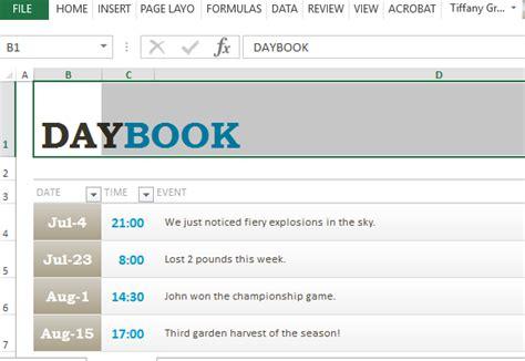 generic logbook template  excel