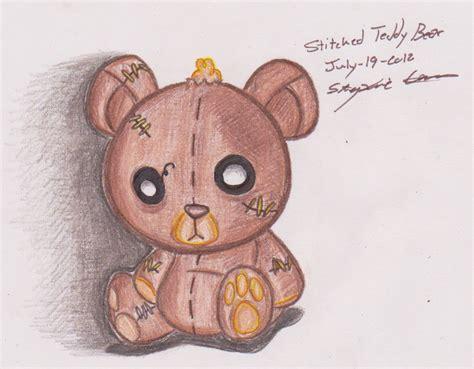stitched teddy bear drawing stephaniecardona 169 2017