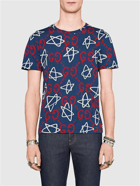 Tshirt Singer Mens Ghosted Roffico Cloth lyst gucci ghost t shirt cotton xl in blue for