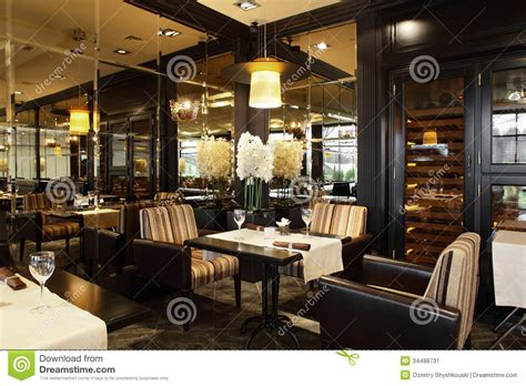Restaurant Decor Styles by Luxury Restaurant In European Style Stock Image Image