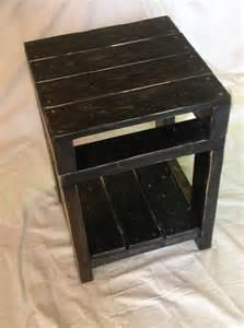 Diy pallet end table side table wooden pallet furniture