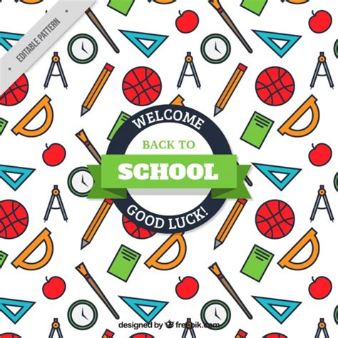 school pattern freepik amazing pattern for back to school vector free download