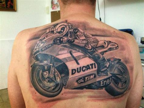 tribal motorcycle tattoo realistic back motorcycle by electrographic
