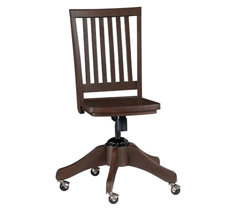 swivel desk chairs for carolina swivel desk chair pottery barn