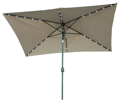 Solar Patio Umbrella Solar Powered Led Patio Umbrella Contemporary Outdoor Umbrellas By Trademark Innovations
