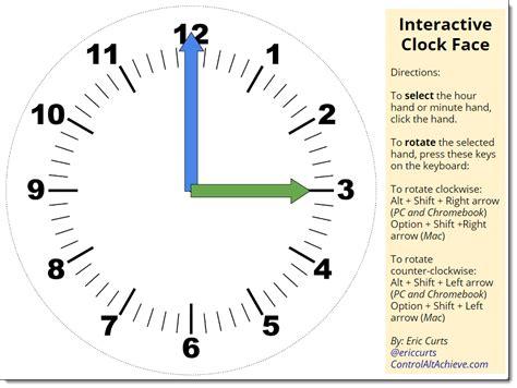 control alt achieve interactive clock face with google