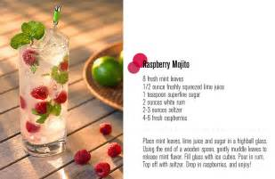 Cocktail Party Drinks - raspberry mojito freutcake