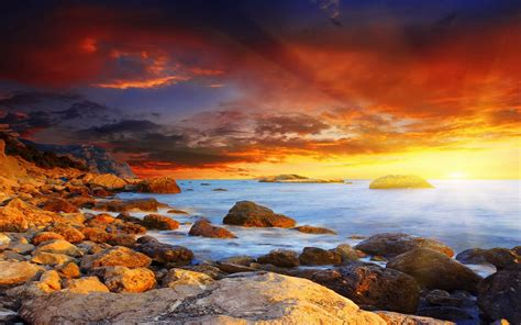 Home Design 3d Gold For Free by Coastline Sunset Hd Photography Wallpaper 12 Landscape