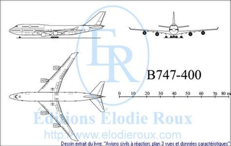 boeing 747 400 plan si鑒es les editions elodie roux b747 400 3 view drawings