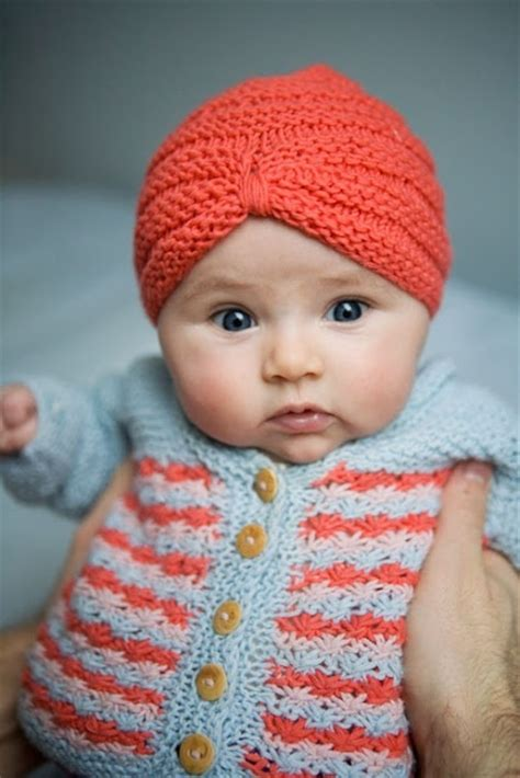 Turban Baby baby turban hat wise knitting