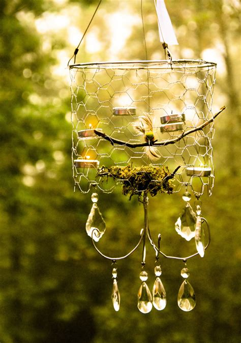 Outdoor Chandelier Diy Make A Chicken Wire Chandelier 187 Dollar Store Crafts