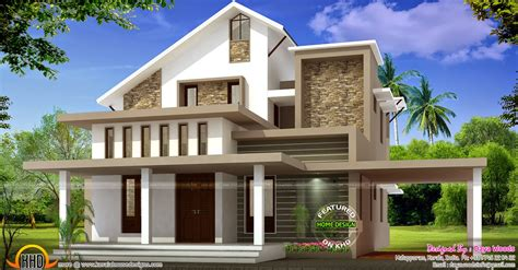 Modern Home Design On A Budget by Low Budget Semi Contemporary Home Kerala Home Design And