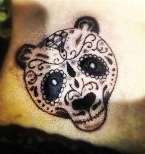 panda tattoo skull my amazing sugar skull panda tattoo next tat pinterest