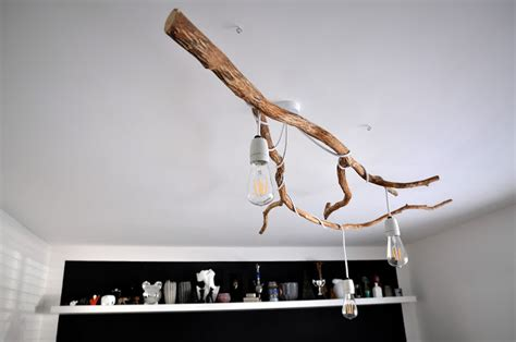 tree branch ceiling light fixture diy pendant ls archives shelterness
