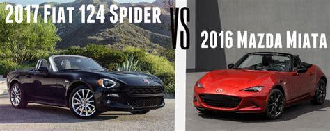 fiat spider vs miata 2017 fiat 124 spider vs mazda miata