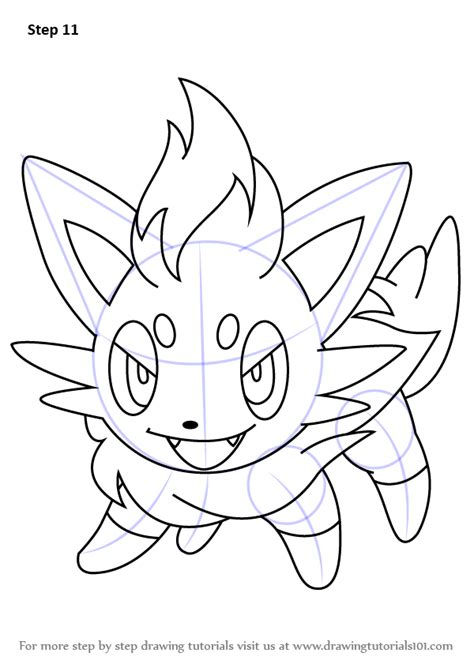 pokemon coloring pages of zorua learn how to draw zorua from pokemon pokemon step by