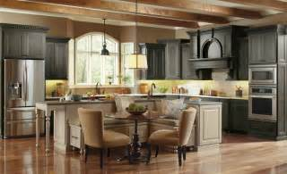 built in kitchen islands with seating cr 233 er un beau d 233 cor avec une table dans le coin de la