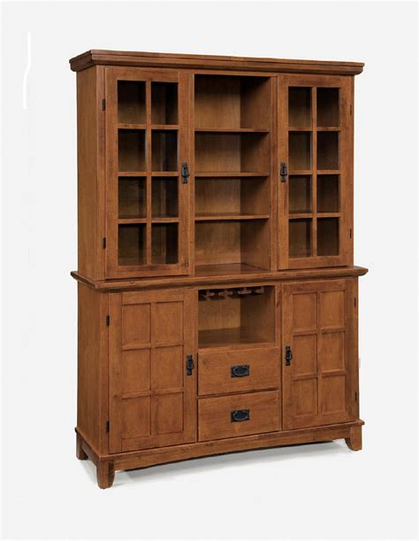 buffet and hutches home styles arts crafts dining buffet hutch cottage oak home furniture dining