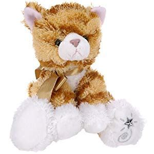 Jo In Striped Animal Sound Toys russ berrie shining orange tabby cat