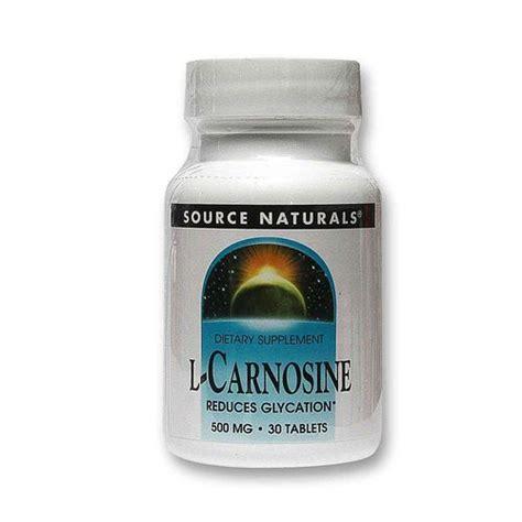 source naturals l carnosine 30 tablets evitamins