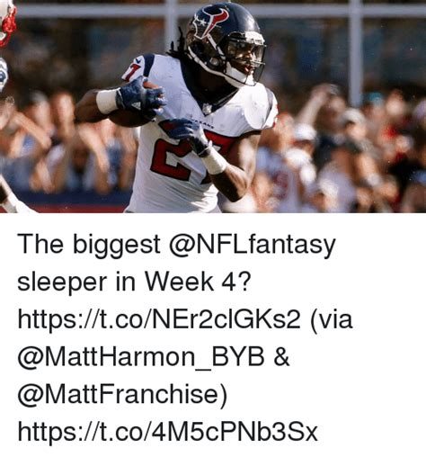 Sleepers For Week 4 by The Sleeper In Week 4 Httpstconer2clgks2 Via