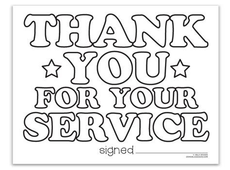 Thank You For Your Service Vale Design Coloringpages Veterans Coloring Pages